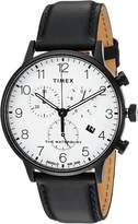 Timex Waterbury Classic Chrono Leather Watches
