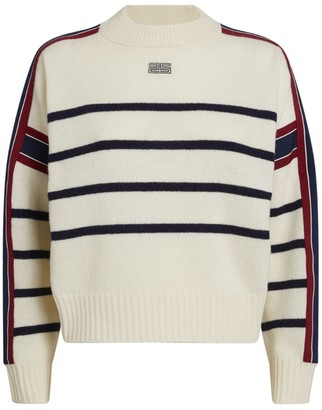 Sandro Striped Wool-Blend Sweater