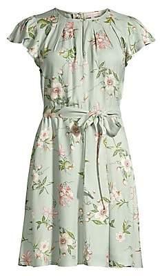 Rebecca Taylor Women's Flutter Sleeve Floral Dress