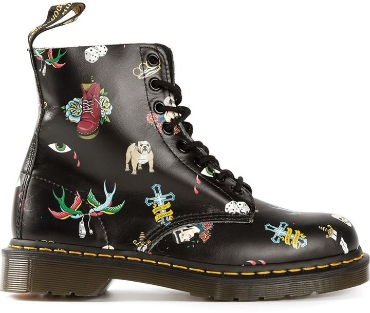 Dr. Martens 'Pascal' tattoo print boots