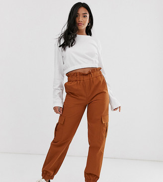 Only Petite cargo pants with pocket detail