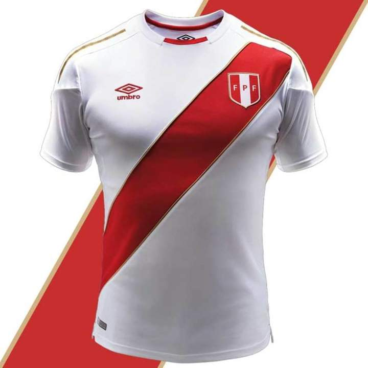 Umbro Peru Soccer Jersey World Cup 2018 Authentic Official Men's Soccer Shirt