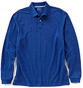 Roundtree & Yorke Trademark Long-Sleeve Solid Pique Polo