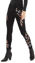 Topshop MOTO Limited Edition Floral Embroidered Jamie Jeans 30-Inch Leg