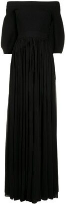 Alexander McQueen Off-The-Shoulder Long Dress
