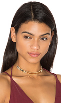 joolz by Martha Calvo Barcode Choker in Metallic Gold.