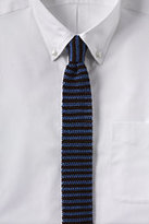 Classic Men's Long Silk Knit Stripe Necktie-Sail Blue Stripe