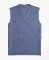 Brooks Brothers Cotton Cashmere Pique Vest