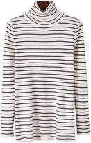 'Jackyln' Thin-striped Turtleneck Sweater