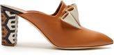 Malone Souliers Hazel geometric heel-print leather mules