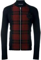 Alexander McQueen tartan panel bomber jacket