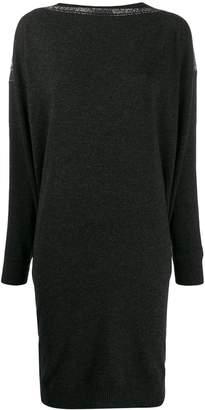 Gentry Portofino rhinestone-embellished knitted dress