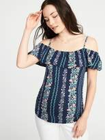 Old Navy Maternity Ruffled Off-the-Shoulder Top