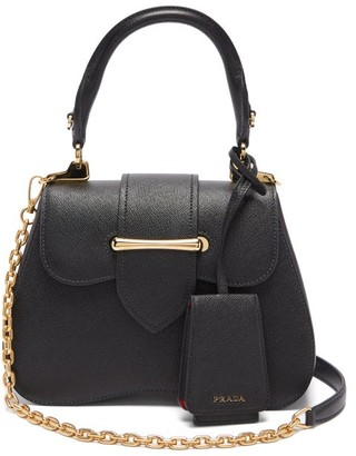 Prada Sidonie Mini Saffiano-leather Cross-body Bag - Womens - Black