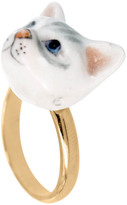 Nach Mini Cat Adjustable Porcelain Ring