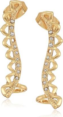 Ettika Womens Antique Gold Earring Jacket Crawlers