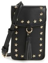 BP Studded Faux Leather Phone Crossbody Bag - Black