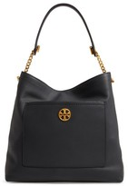 Tory Burch Chelsea Chain Leather Hobo - Black