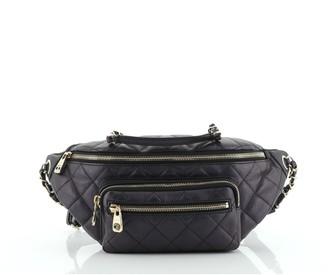 Chanel All About Waist Bag Quilted Iridescent Calfskin Medium