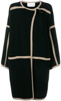 Chloé contrast trim coat - women - Cashmere/Wool - M