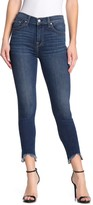 7 For All Mankind High Waisted Raw Hem Gwenevere Jeans