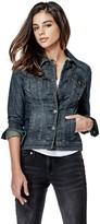 GUESS Women's Alisana Denim Jacket in Dark Wash