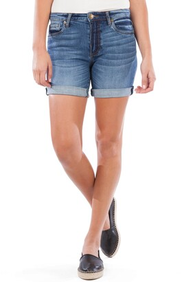 KUT from the Kloth Chloe Rolled Boyfriend Denim Shorts