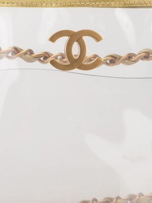 Chanel Pre Owned Double Chain Shoulder Strap