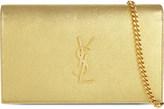 Saint Laurent Monogram metallic leather shoulder bag