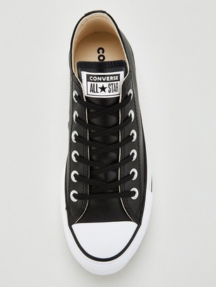 Converse Chuck Taylor All Star Platform Lift Clean Leather Ox - Black
