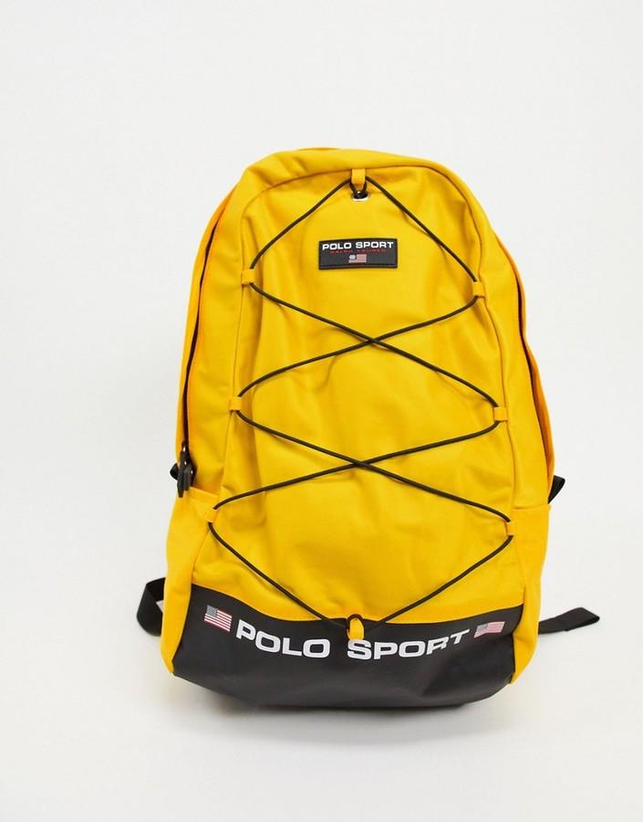 Polo Ralph Lauren Sport backpack in yellow