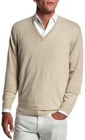 Loro Piana Baby Cashmere V-Neck Sweater, Beige