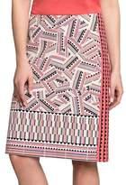 Nic+Zoe Petites Printed Globe Trotter Pencil Skirt