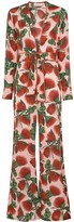Adriana Degreas Fiore floral deep v-neck jumpsuit