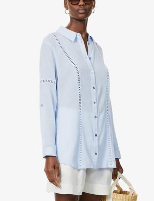 Heidi Klein Bora Bora crochet-trim cotton shirt