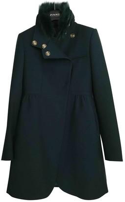 Pinko Green Wool Coat for Women