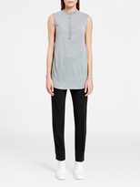 DKNY Jersey Top With Sheer Back