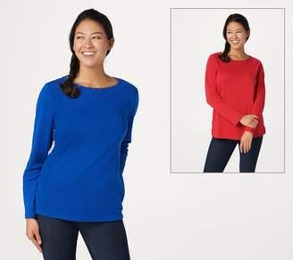 Factory Quacker S/2 Multi Bling Stones Long Sleeve T-Shirts