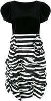 Comme des Garcons ruched two tone striped dress
