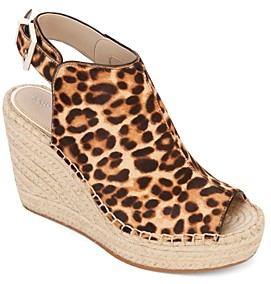 Kenneth Cole Women's Olivia Leopard Print Wedge-Heel Sandals