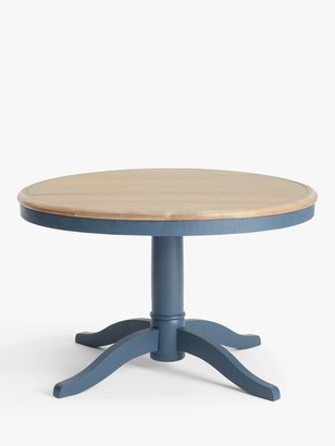 loaf Chow Round 6 Seater Dining Table, Solid Oak/Inky Blue