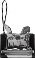 McQ by Alexander McQueen Black & Silver Electro Bunny Pouch