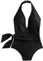 J.Crew Deep-V wrap one-piece swimsuit