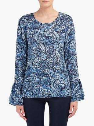 Lily & Lionel Ella Paisley Print Blouse, Blue