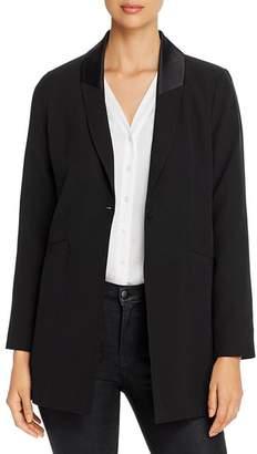 Eileen Fisher Silk Shawl-Collar Blazer
