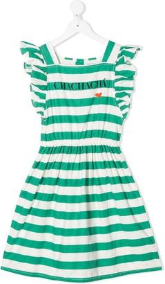 Bobo Choses Chachacha Kiss striped dress