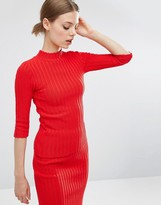 Asos Co-Ord Jumper In Plated Rib