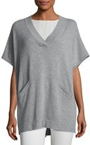 Eileen Fisher Cashmere V-Neck Poncho-Style Tunic