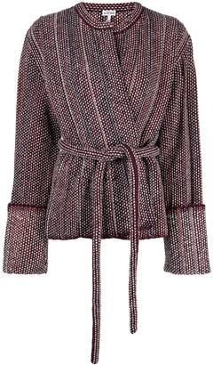 Loewe Pleated-Knit Belted Jacket