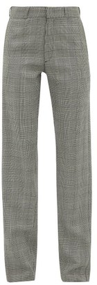 Vetements Houndstooth Tailored Twill Trousers - Womens - Grey